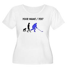 Custom Hockey Evolution Plus Size T-Shirt