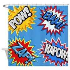 Superhero shower curtains superhero fabric shower curtain liner