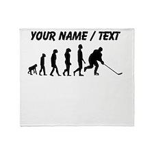 Custom Hockey Evolution Throw Blanket