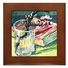 Van Gogh - Blossoming Almond Branch in Framed Tile
