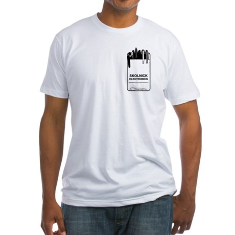 Skolnick Electronics Pocket P Fitted T-Shirt