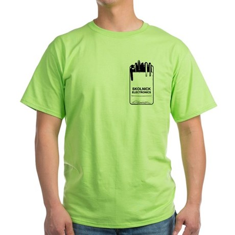 Skolnick Electronics Pocket P Green T-Shirt