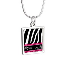 Pink Zebra Personalized Necklaces