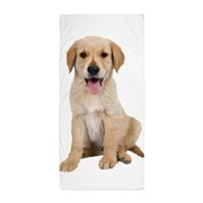 Golden Labrador Beach Towel