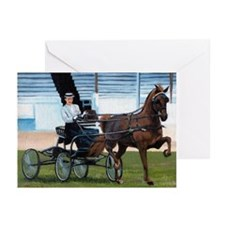 Hackney Horse Portrait Greeting Cards