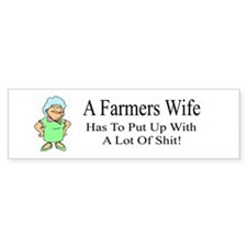 Farmers Wife Bumper Bumper Sticker