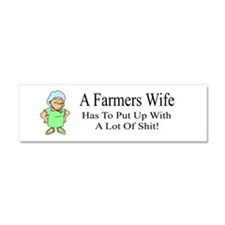 Farmers Wife Car Magnet 10 X 3