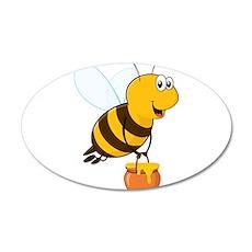 Honey Pot Bee Wall Decal