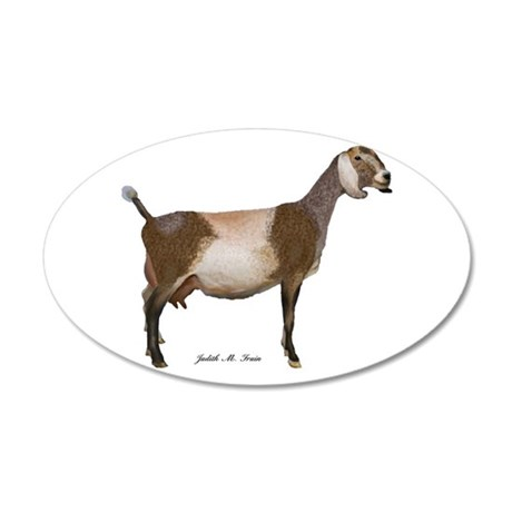 Nubian Dairy Goat 20x12 Oval Wall Decal