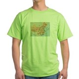 Map of China T-shirt (green)