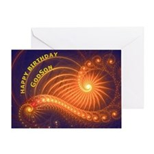Birthday card for a godson Greeting Cards