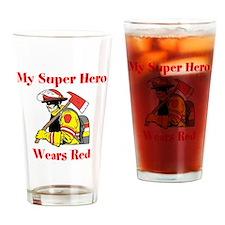 My Super Hero Wears Red Drinking Glass