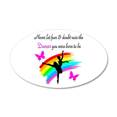 JOYFUL DANCER 35x21 Oval Wall Decal