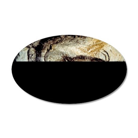Prehistoric Cave Painting of 35x21 Oval Wall Decal