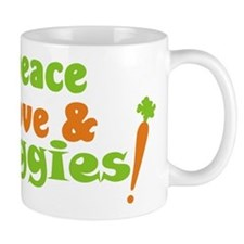 Peace, Love and Veggies Mugs