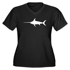 Swordfish Silhouette Plus Size T-Shirt