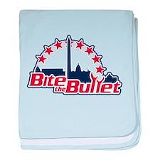 Bite the Bullet baby blanket