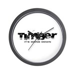 Timber - It's Going Down Wall Clock