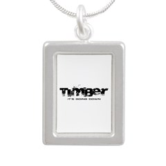 Timber - It's Going Down Silver Portrait Necklace