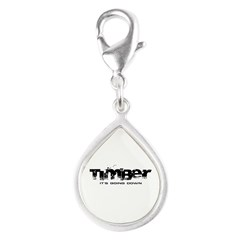 Timber - It's Going Down Silver Teardrop Charm
