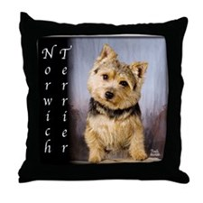 Norwich Terrier Throw Pillow