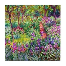 The Iris Garden by Claude Monet Tile Coaster