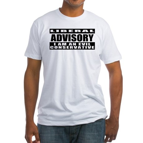 Evil Conservative Gun Control Fitted T-Shirt