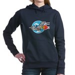retro aeroplane jet.png Hooded Sweatshirt
