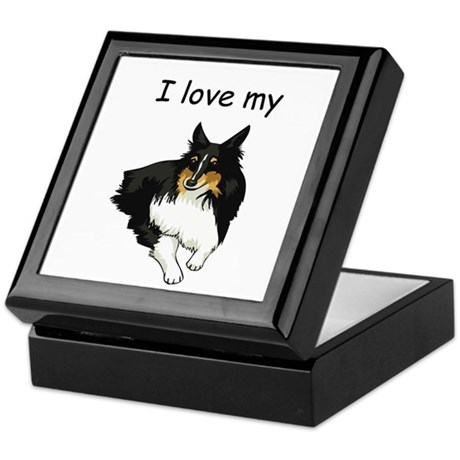 I love my Sheltie Keepsake Box