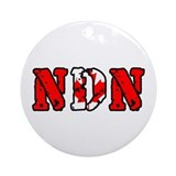 Canadian NDN Ornament (Round)