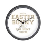 Property of the Easter Bunny Wall Clock
