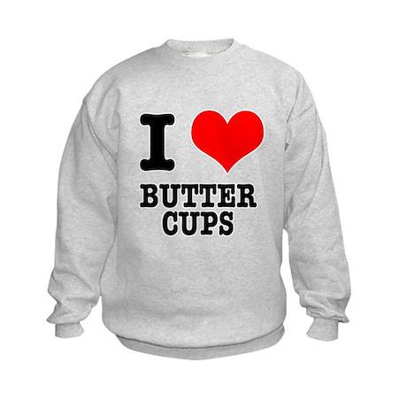 I Heart (Love) Buttercups Kids Sweatshirt