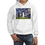 Starry Night Border Collie Hooded Sweatshirt
