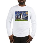 Starry Night Border Collie Long Sleeve T-Shirt