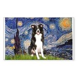Starry Night Border Collie Sticker (Rectangle)