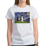 Starry Night Border Collie Women's T-Shirt