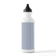 Blue Diagonal Pattern Water Bottle