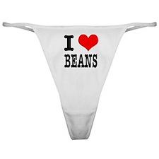 I Heart (Love) Beans Classic Thong