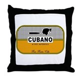 CUBANO el 100% Autentico Alternate Throw Pillow