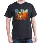 Room with Border Collie Dark T-Shirt