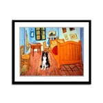 Room with Border Collie Framed Panel Print