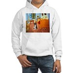 Room with Border Collie Hooded Sweatshirt