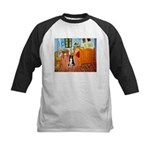 Room with Border Collie Kids Baseball Jersey