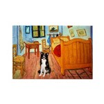 Room with Border Collie Rectangle Magnet (10 pack)