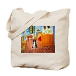 Room with Border Collie Tote Bag
