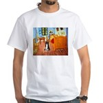Room with Border Collie White T-Shirt