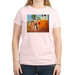 Room with Border Collie Women's Light T-Shirt