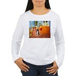Room with Border Collie Women's Long Sleeve T-Shir