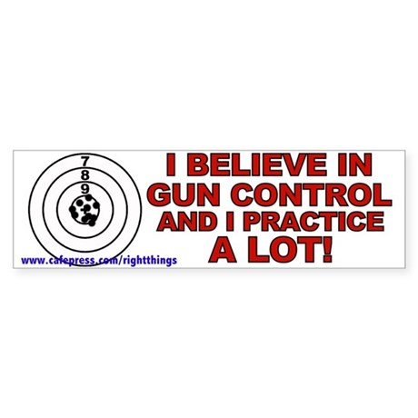 Gun Control Conservative Bumper Sticker