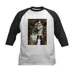 Ophelia & Border Collie Kids Baseball Jersey